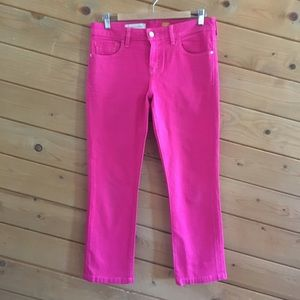 Pilcro and the Letterpress Hot Pink Crop Jeans 29